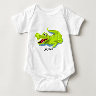Kid's Cute Baby Alligator Baby Bodysuit