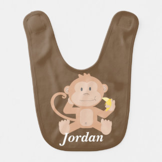 Kid's Cute Baby Monkey Bib
