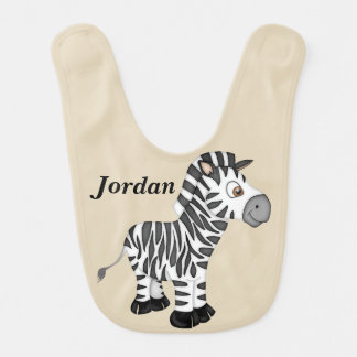 Kid's Cute Baby Zebra Bib