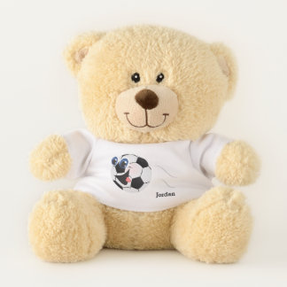 Kid's Cute Funny Soccer Ball Teddy Bear