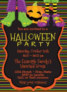 Kids Halloween Invitations Announcements Zazzle Uk