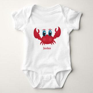 Kid's Cute Happy Crab Baby Bodysuit
