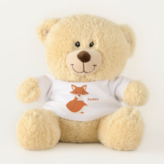 Kid's Cute Woodland Fox Teddy Bear