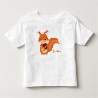 Kid's Cute Woodland Squirrel Toddler T-Shirt
