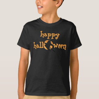 Kids Dark Happy Halloween T-shirt