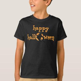 Kids Dark Happy Halloween T-shirt