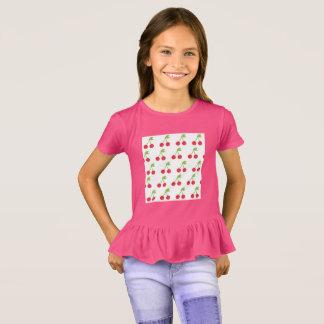 Kids designers t-shirt Pink with cherries