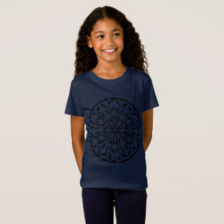 Kids designers tshirt blue with Mandala