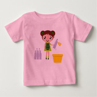 Kids designers tshirt with Recycle girl