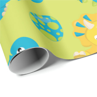 kids Dinosaur and egg prehistoric wrapping paper