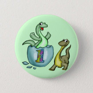 Kids Dinosaur T-shirts and Kids Dinosaur Gifts 6 Cm Round Badge