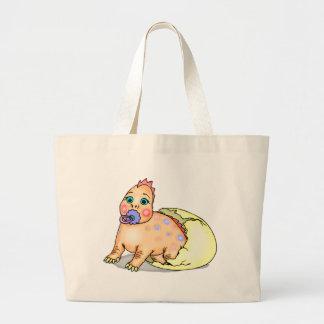 Kids Dinosaur T-shirts and Kids Dinosaur Gifts Large Tote Bag