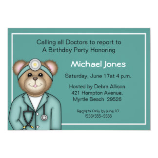 Kids Doctor Invitations