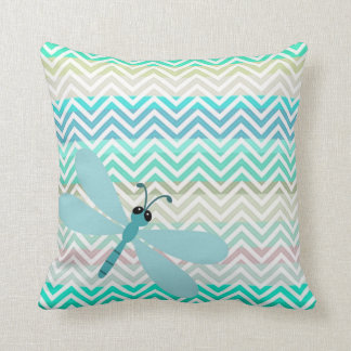 Kids Dragonfly Colorful Chevron Pillow