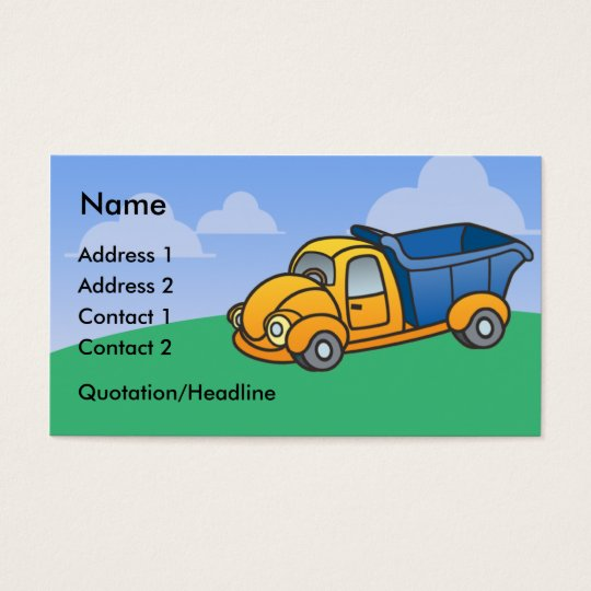 Kids Dump Truck Business Cards (standard)