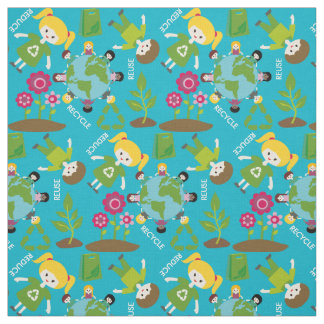 Kids Earth Day Fabric