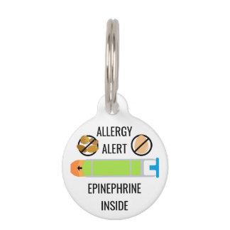 Kids Egg Tree Nut Allergy Alert Epinephrine Inside Pet Nametags