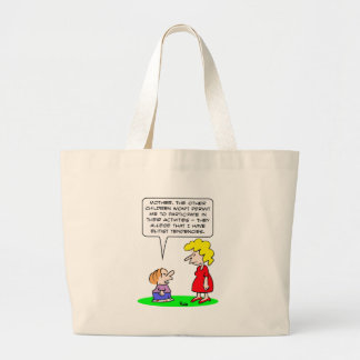 kids elitist tendencies play bag