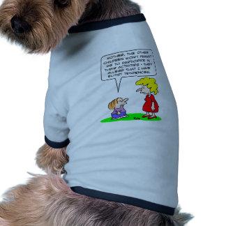 kids elitist tendencies play pet clothing