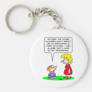 kids elitist tendencies play key chain