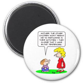 kids elitist tendencies play refrigerator magnet