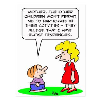 kids elitist tendencies play post cards