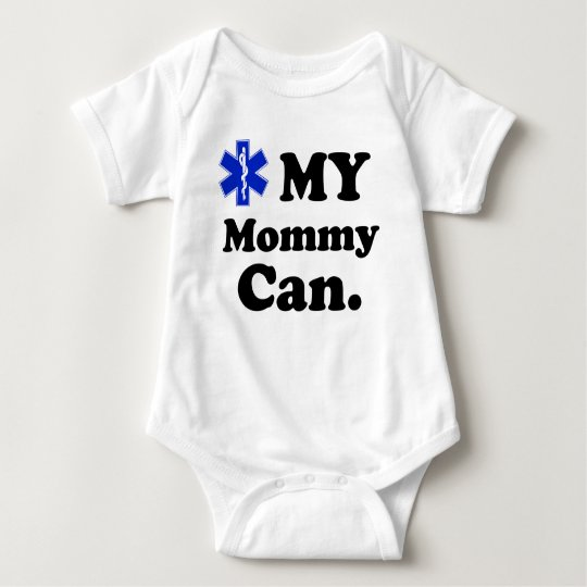 Kids EMT MY Mummy can Baby Bodysuit