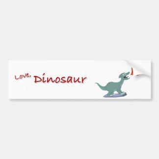 Kids Fire-Breathing Dinosaur Art by Jeff Nevins Bumper Sticker