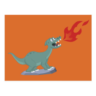 Kids Fire-Breathing Dinosaur Art by Jeff Nevins Postcard