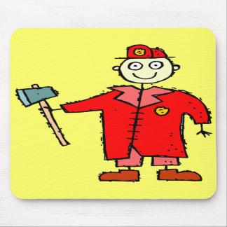 Kids Firemen T-shirts and Kids Firemen Gifts Mouse Pads