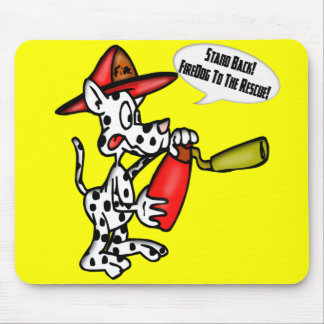 Kids Firemen Tee Shirts and Kids Gifts Mouse Mat