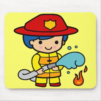Kids Firemen Tee Shirts and Kids Gifts Mouse Mats