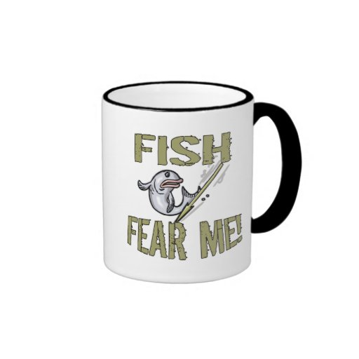 Kids Fishing T Shirts and Kids Fishing Gifts Ringer Mug