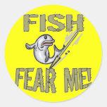 Kids Fishing T Shirts and Kids Fishing Gifts Round Stickers