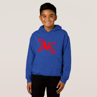 Kids fleece pullover hoodie OctopusChicky save