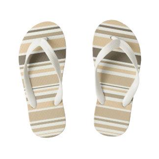Kids flip flops : vintage stripes