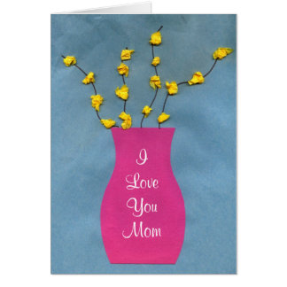 Kids Flower Vase Craft Mother's Day Greeting Card