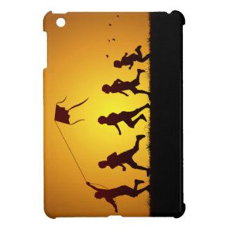 Kids flying a kite iPad mini covers