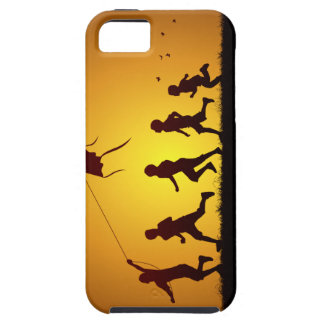 Kids flying a kite iPhone 5 cover