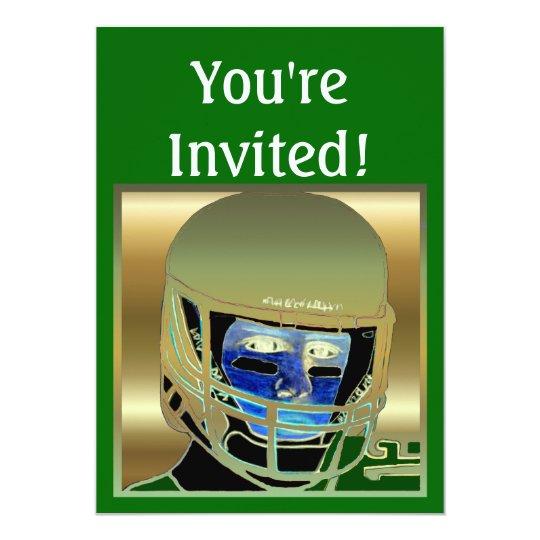 Kids Football Birthday Party Invitation Cards