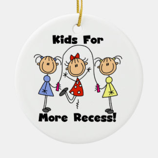 Kids For More Recess Christmas Ornament