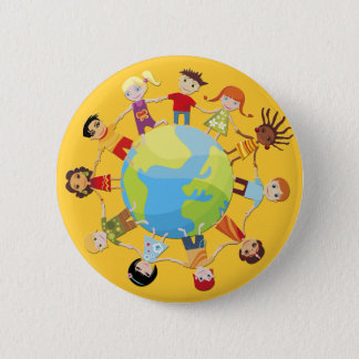 Kids for World Peace 6 Cm Round Badge