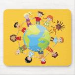 Kids for world peace mousepad