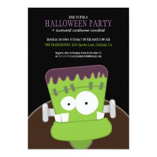 Kids Frankenstein Monster Halloween Party Invites