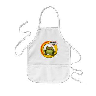 Kids Frog T Shirts and Kids Frog Gift Kids Apron