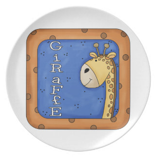 Kids fun Giraffe Decorative Plate