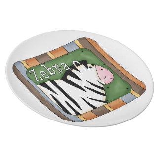 Kids fun Zebra Decorative Plate