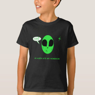 Kids' Funny Alien Ate My Homework T-Shirt