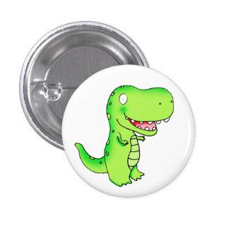 kids funny cute cartoon T-rex dinosaur Pinback Buttons
