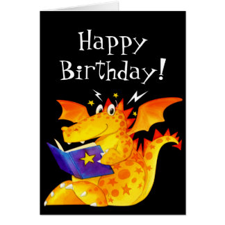 Kid's Funny Halloween Dragon Greeting Cards